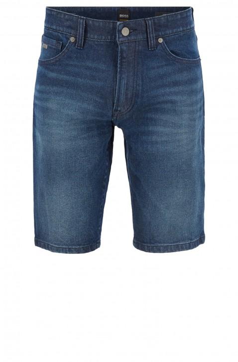 BOSS Regular-Fit Jeans Shorts MAINE SHORTS BC-L-C FACE aus Denim mit Used-Effekten 404