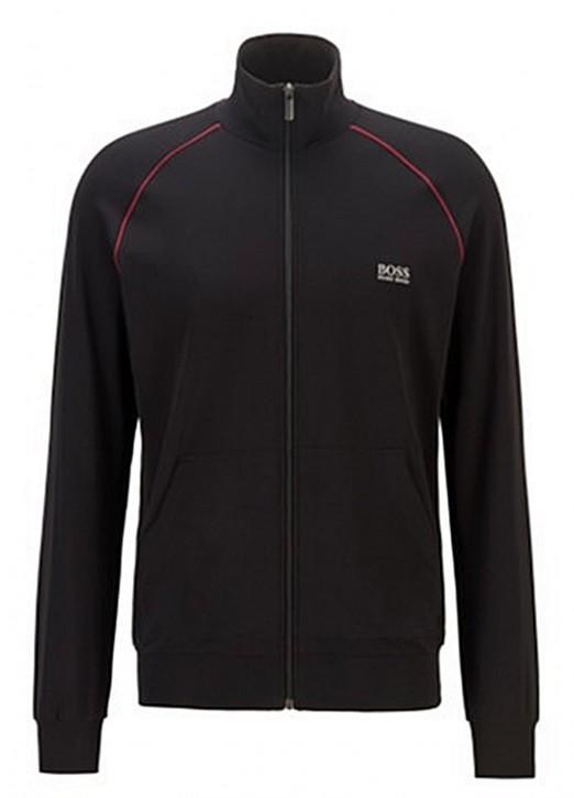 HUGO BOSS Regular-Fit Loungewear-Jacke Mix&Match Jacket Z aus elastischer Baumwolle schwarz 008