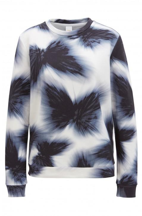 BOSS Damen Pullover Tafly aus Baumwoll-Mix mit Modal und Seide dunkelblau 995