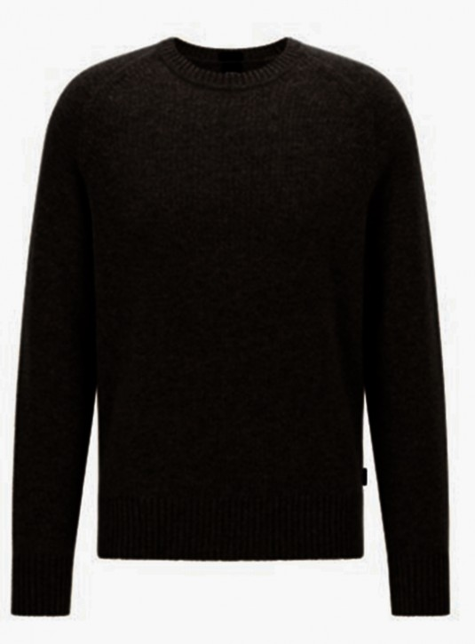 Hugo Boss Pullover Nolive in normaler Passform aus reinem Kaschmir Farbe schwarz 001