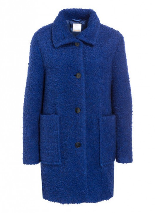 BOSS Relaxed-Fit Teddy-Mantel OCHILLY mit Stehkragen Farbe blau 449