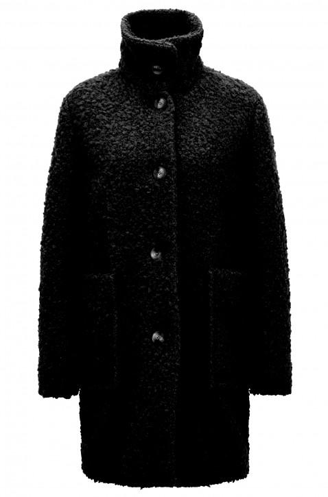 BOSS Relaxed-Fit Teddy-Mantel  OCHILLY mit Stehkragen Farbe schwarz 001