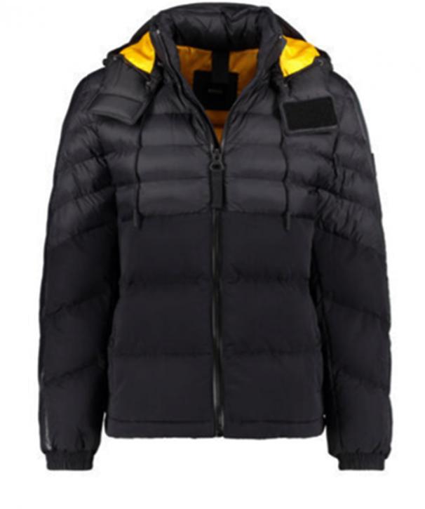 BOSS Wasserabweisende Jacke OLOOH mit abnehmbarer Kapuze schwarz 001