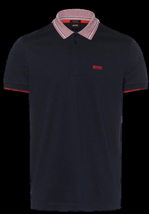BOSS Polo Shirt PADDY 1mit kontrastfarbenen Kragen und Logo Print 410