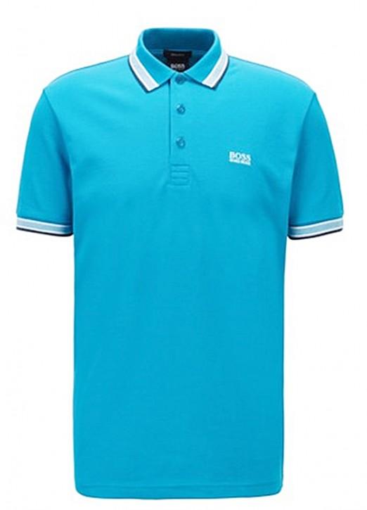 Hugo Boss Poloshirt PADDY aus Baumwoll-Piqué mit Streifen an Kragen und Ärmelbündchen 449