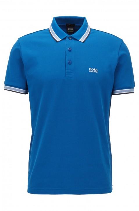 HUGO BOSS Regular-Fit Polo PADDY mit Drei-Knopf-Leiste blau 420