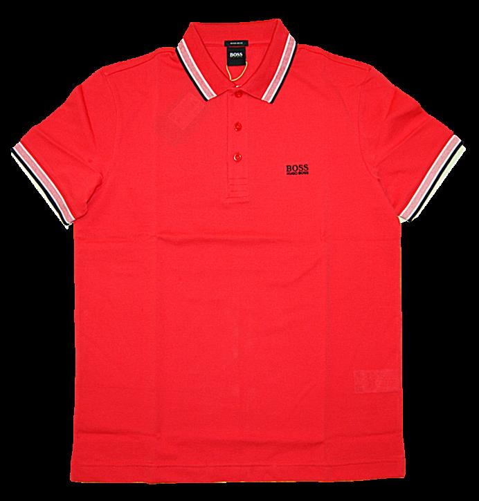 BOSS Poloshirt aus Baumwoll-Piqué PADDY mit Logo an der Kragenunterseite rot 621