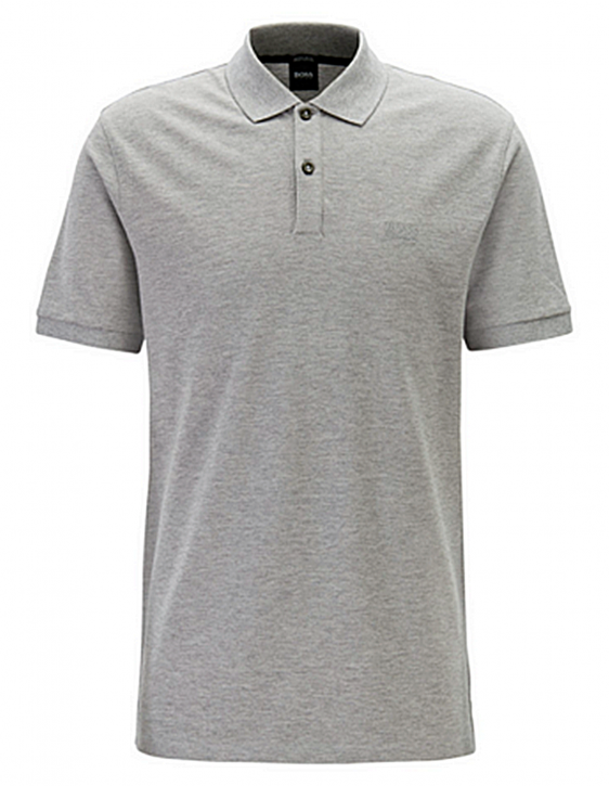 BOSS Regular-Fit Poloshirt PALLAS aus feinem Piqué grau 041