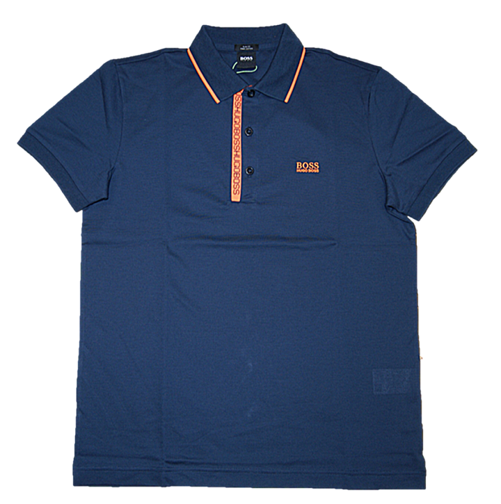 BOSS Piqué-Poloshirt PAULE 4 aus Pima-Baumwolle dunkelblau 417
