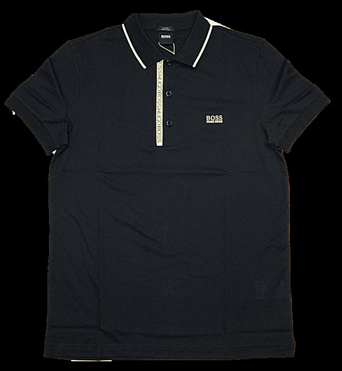 BOSS Piqué-Poloshirt PAULE 4 aus Pima-Baumwolle schwarz 006