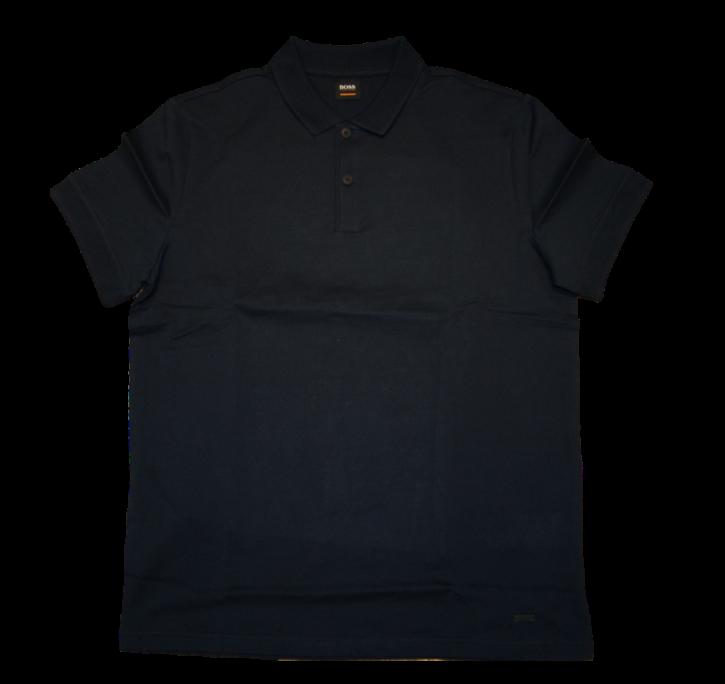 BOSS Herren Polo Shirt Pknitway aus einer soften Baumwolle dunkelblau 404