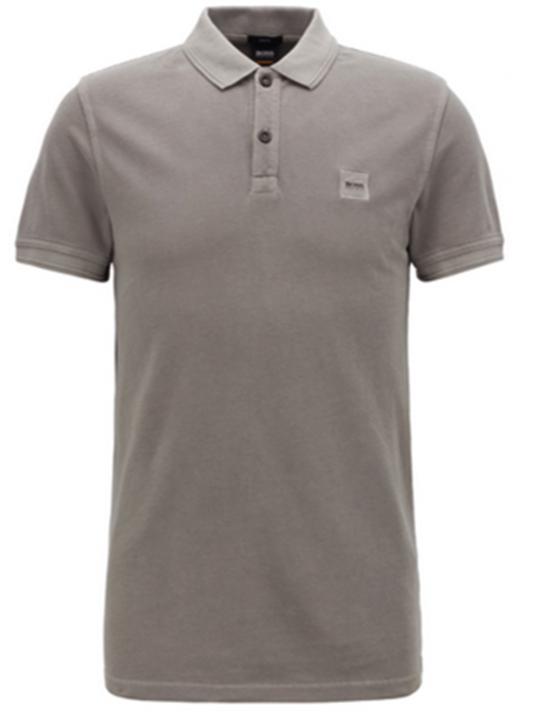 BOSS Slim-Fit Poloshirt Prime aus gewaschenem Baumwoll-Piqué grau 026