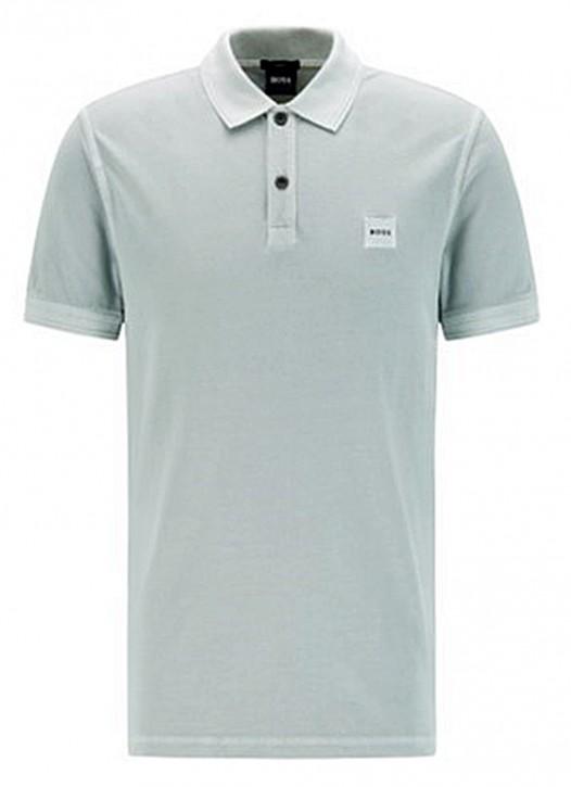 Hugo Boss Poloshirt Prime 1 mit salzgewaschenem Finish Farbe grau 043