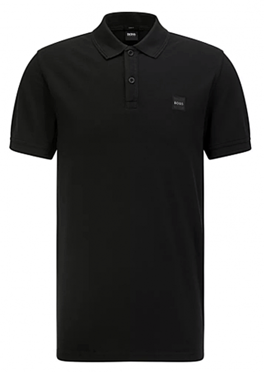 Hugo Boss Poloshirt Prime 1 mit salzgewaschenem Finish Farbe schwarz 001
