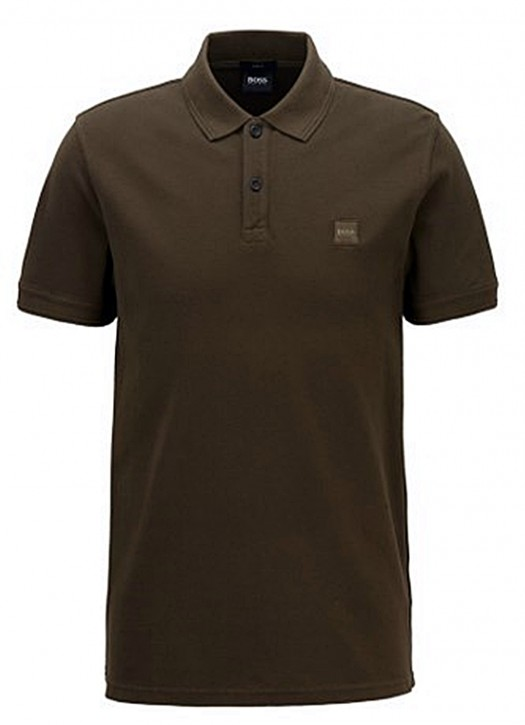 HUGO BOSS Slim-Fit Poloshirt PRIME aus gewaschenem Baumwoll-Piqué Khaki 342