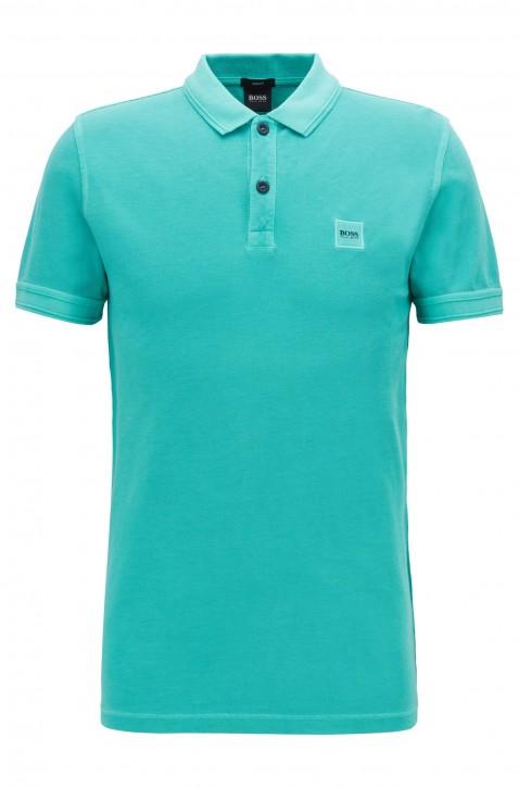 BOSS Slim-Fit Poloshirt Prime aus gewaschenem Baumwoll-Piqué grün 443