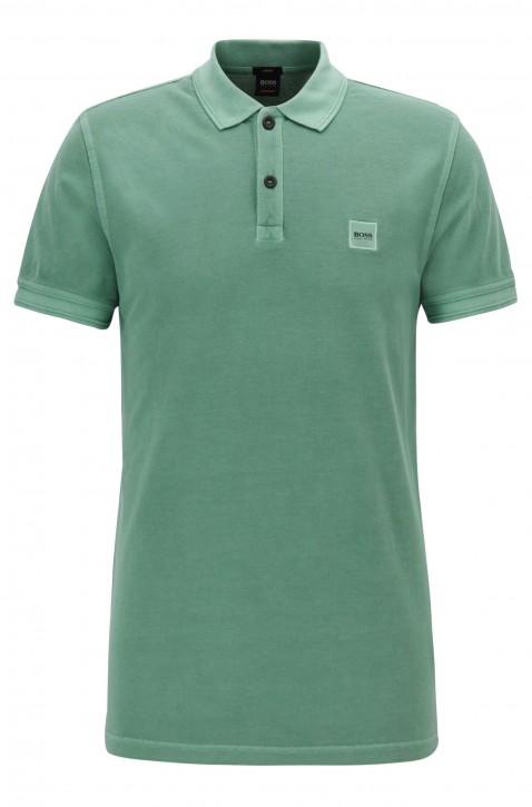 BOSS ORANGE Slim-Fit Poloshirt Prime aus gewaschenem Baumwoll-Piqué grün 345