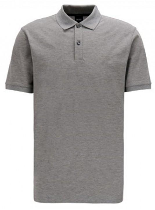 BOSS Regular-Fit Poloshirt PALLAS aus feinem Piqué grau 041