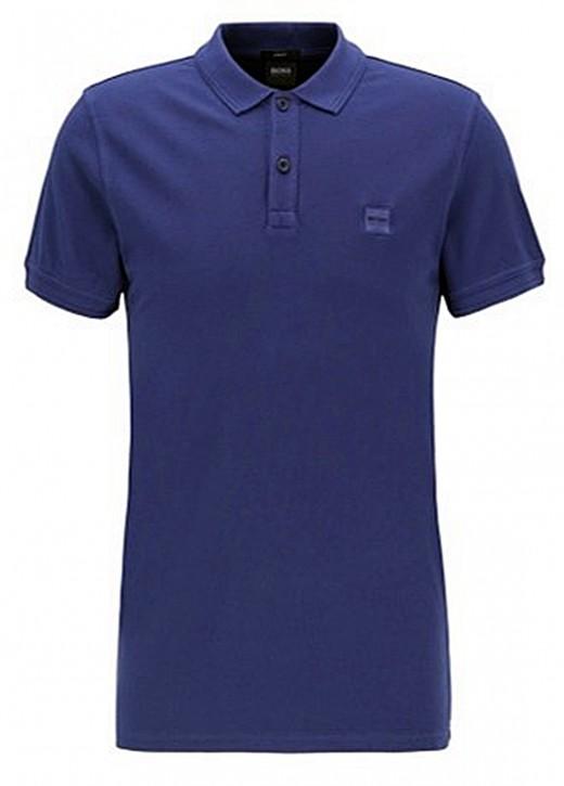 HUGO BOSS Slim-Fit Poloshirt PRIME aus gewaschenem Baumwoll-Piqué blau 423