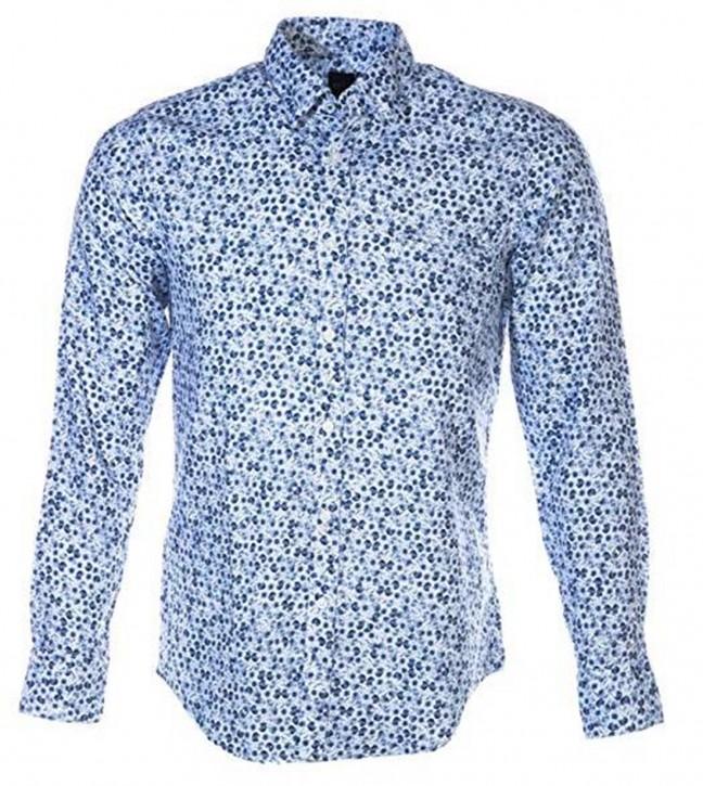 BOSS Regular-Fit Hemd  RELEGANT aus Baumwolle mit Muster Farbe blau 404