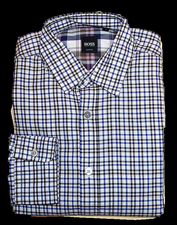 BOSS Slim-Fit Hemd RONNY_18 mit Karomuster aus Baumwolle Farbe 206