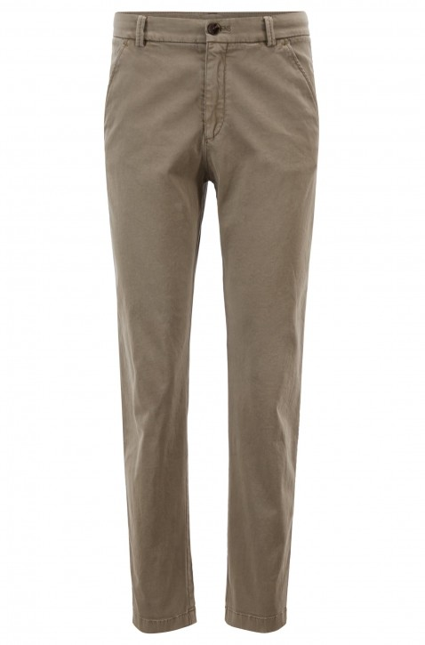 BOSS Regular-Fit Chino  SACHINI1-D aus Stretch-Baumwolle mit Satin-Finish grau 099