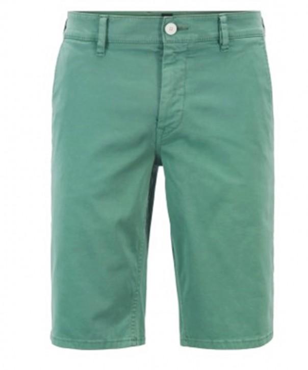 BOSS Bermuda SCHINO-SLIM SHORTS aus doppelt gefärbtem Stretch-Satin  grün 345