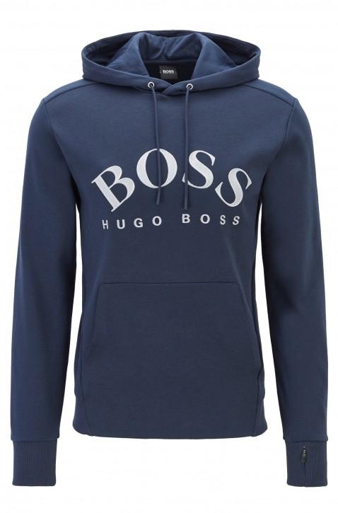 BOSS Kapuzen-Sweatshirt SOODY mit geschwungenem Logo-Artwork und versteckter Tasche