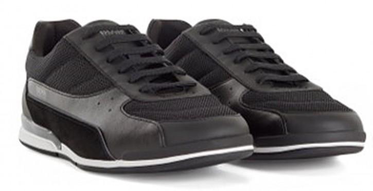 Hugo Boss Lowtop Sneakers Saturn_Lowp_memx aus verschiedenen Materialien schwarz 001