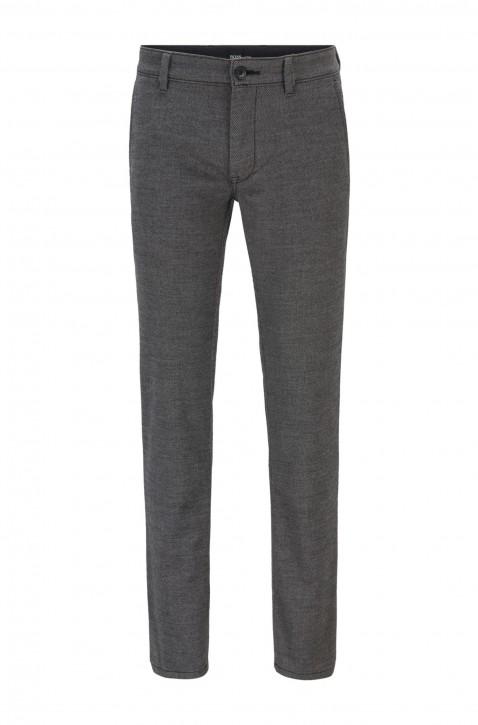 HUGO BOSS Slim-Fit Chino aus gebürstetem, elastischem Baumwoll-Mix Farbe grau 034