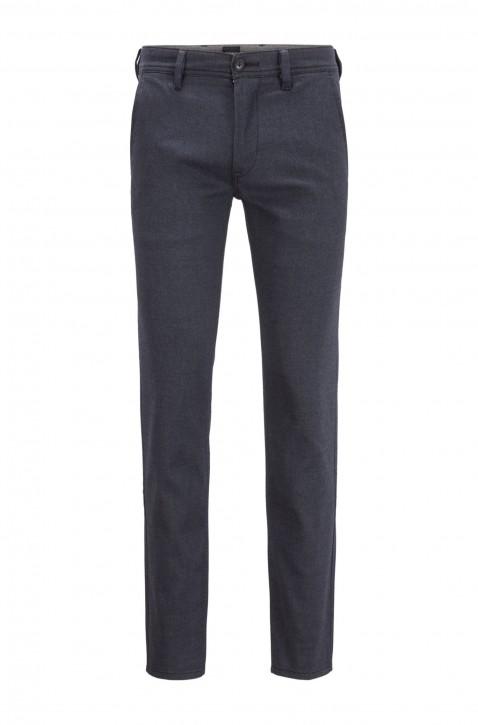 HUGO BOSS Slim-Fit Chino aus gebürstetem, elastischem Baumwoll-Mix Farbe blau 448