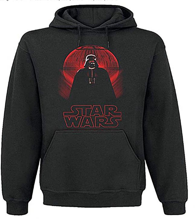 Star Wars Darth Vader Deathstar Hoodie Männer  black