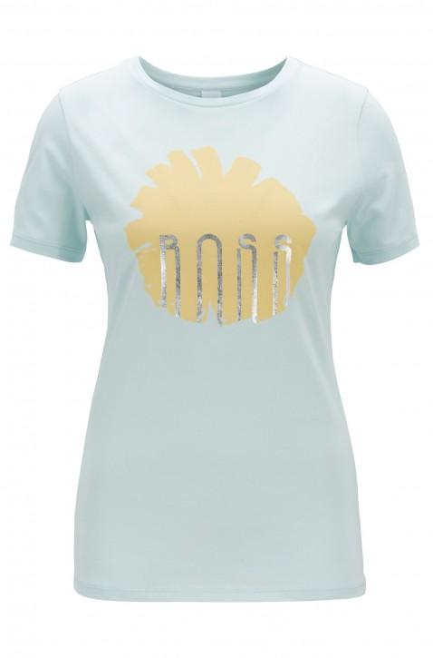 BOSS T-Shirt TEBLOSSOM aus Baumwolle mit Blumenprint und Folien-Detail grün 462