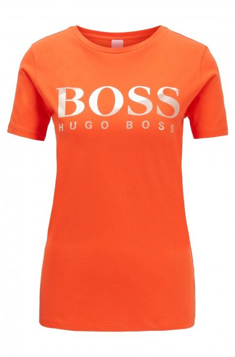 HUGO BOSS T-Shirt Tecatch aus Baumwoll-Jersey mit Logo aus Print-Mix orange 820
