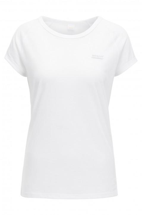 BOSS ORANGE  Slogan T-Shirt TEEDAY in gewaschener Baumwolle Jersey Farbe weiss 100