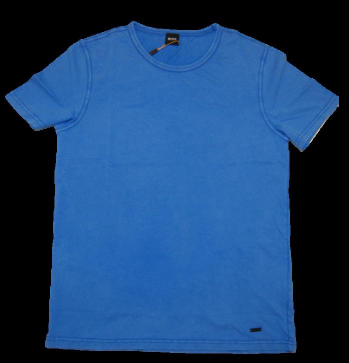 BOSS Regular-Fit T-Shirt TOKKS aus Baumwolle mit Rund Ausschnitt Farbe blau 435