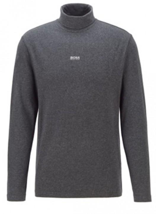 HUGO BOSS Rollkragen-Shirt TRollneck aus Stretch-Baumwolle mit gummiertem Logo schwarz 001