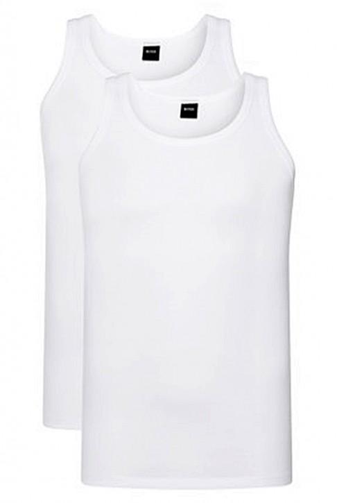 HUGO BOSS Tank Top 2P CO/EL Slim-Fit Unterhemden im Zweier-Pack weiss 100