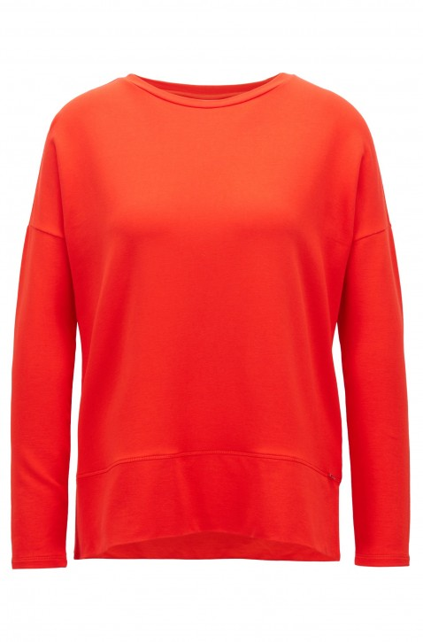 BOSS Relaxed-Fit Top Tecosy aus leichtem Stretch-Terry Farbe rot 621