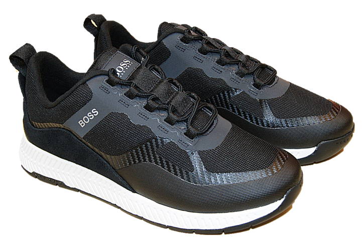 HUGO BOSS Hybrid-Sneakers Titanium_Runn_memx im Laufschuh-Stil  schwarz 001