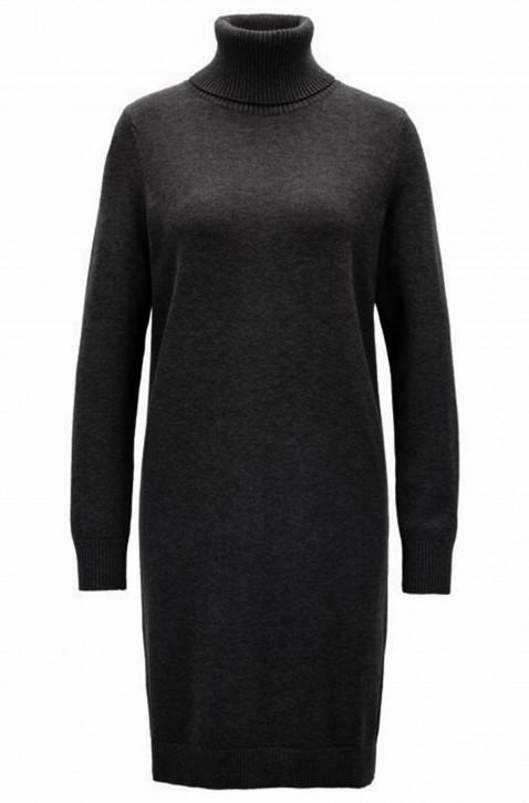 BOSS Pulloverkleid WABELLENA aus Baumwoll-Schurwoll-Mix mit Rollkragen schwarz 001