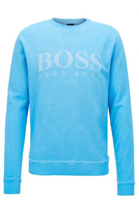 BOSS ORANGE Sweatshirt WALLKER aus French Terry mit Logo-Dessin Farbe hellblau 431