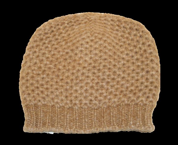 HUGO BOSS Strickmütze WANDERSY in einem Grobstrickmuster Farbe braun 235