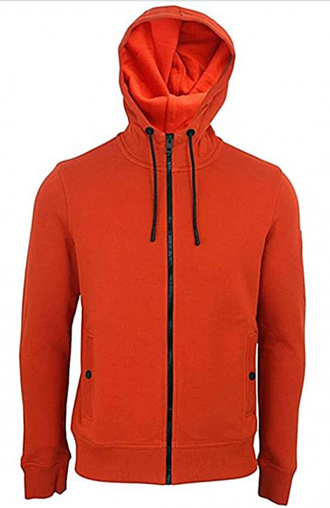 HUGO BOSS Kapuzen-Sweatshirt Zounds 1 aus Baumwoll-Terry Farbe rot 805