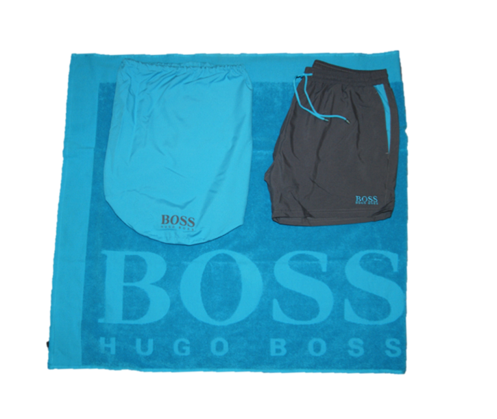 BOSS BLACK BEACH SET  MIT BADESHORTS FARBE BLAU 461
