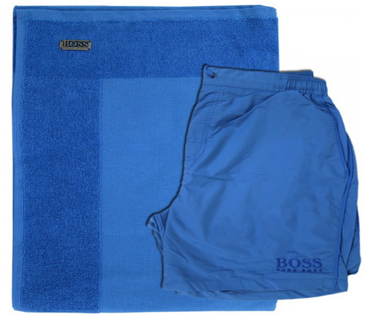 BOSS BLACK BEACH SET BM MIT BADESHORTS FARBE BLAU 430