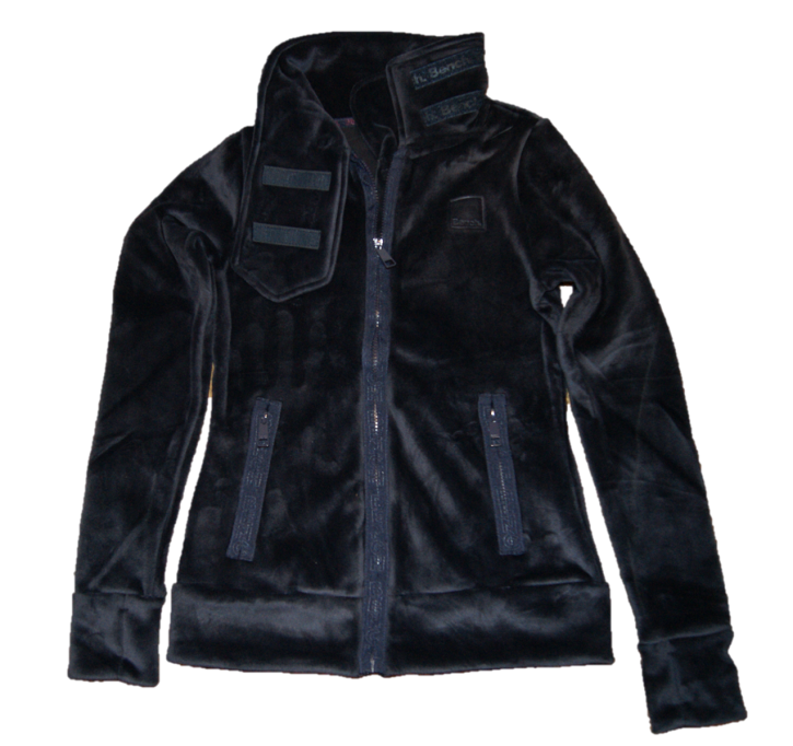 BENCH Fleece Sweatshirt Jacke HER FLEECE FUNNEL mit Funnelneck Farbe dunkelblau 11341