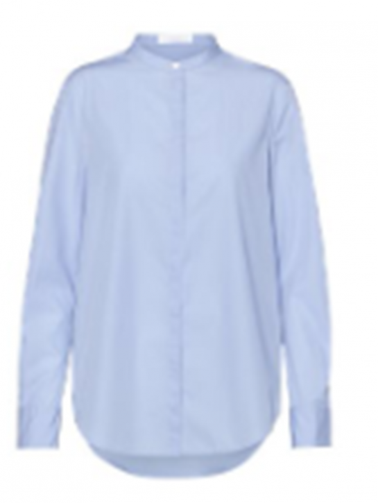 HUGO BOSS BOSS Relaxed-Fit Bluse C_BEFELIZE _18 aus Baumwolle hellblau 450