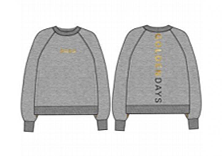 Hugo Boss Damen Sweat C_Elia_Gold mit Reißverschluss und Gold Logo grau 040
