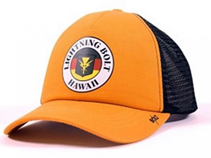 Lightning Bolt HAWAII TRUCKER CAP mit BOLT Logo auf dem Schirm Sunflower-Y25